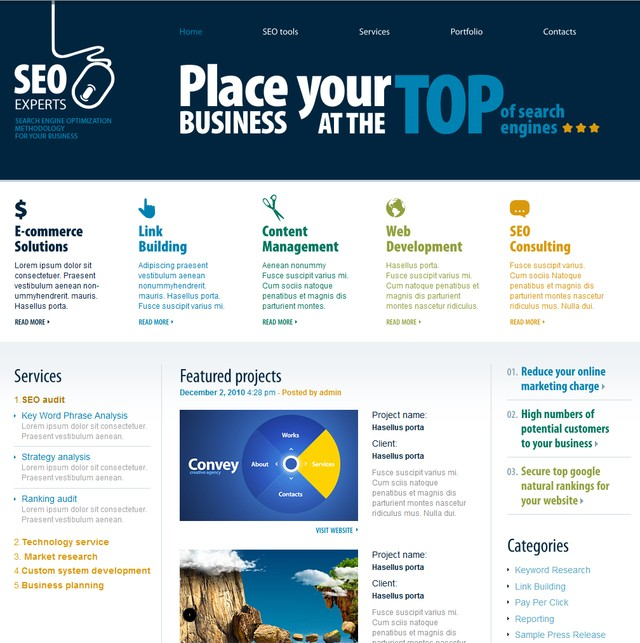 Thesis theme seo features